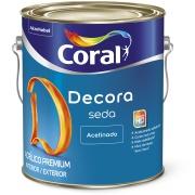 Imagem de Tinta Acrílica Acetinado Premium 3,6L - Branco Gelo - Acabamento Seda Coral
