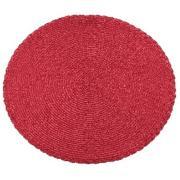 Pano Americano Redondo 38 cm Plástico e Poliéster Vermelho - Copa&Cia