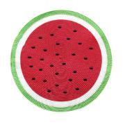 Imagem de Pano Americano Melancia Redondo 38 cm Plástico e Poliéster Vermelho - Copa&Cia