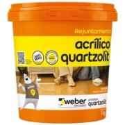 Rejunte Acrílico Cinza Outono Balde/1kg - Quartzolit
