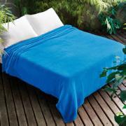 Imagem de Manta Solteiro Microfibra 150x220 cm Azul celeste 003 - Jolitex Ternille