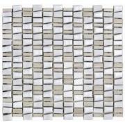 Mosaico Mosaico Mix Stone White Tipo A 29,5x32,2cm 11 Unidades - Incepa