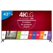 """Smart TV LED 43"""" LG 4K/Ultra HD 43UJ6565.BWZ - 4 HDMI 2 USB"""