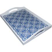 Bandeja Decorativa Madeira 36 cm Azulejo 17046 - Only Art