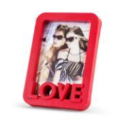 Porta Retrato Quadrado Love Unifoto Vermelho 16x11cm - SPF-710 - Jolie