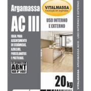 Imagem de Argamassa ACIII Porcelanato Interno e Externo 20Kg Cinza - VitalMassa