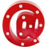 Luminária LED Arroba Vermelho 21cm - Jolie