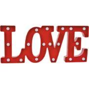 Luminária LED Love Vermelho 29cm - Jolie