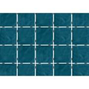Revestimento de Parede Brilhante Craquelada 1,59m² 7,5x7,5cm Azul Mar Onda Mesh - Eliane