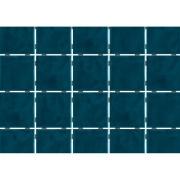 Revestimento de Parede Brilhante Craquelada 1,59m² 7,5x7,5cm Azul Petróleo Onda Mesh - Eliane