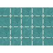 Revestimento de Parede Brilhante Craquelada 1,59m² 7,5x7,5cm Verde Água Onda Mesh - Eliane