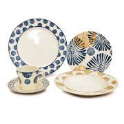 Aparelho de Jantar de Cerâmica 20 Peças Azul escuro - Yoi