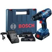 Furadeira e Parafusadeira a Bateria 18V com Impacto Reversível Bivolt - 06019F83E0000 - Bosch