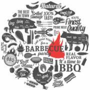 Capa para Sousplat de Tecido Barbecue TTS7165 - NSW
