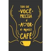 Imagem de Placa Decorativa em MDF 30x20 cm Café 67993 - Kapos