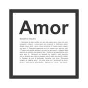 Quadro Decorativo 27x27 cm Amor Preto 68099 - Kapos