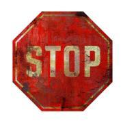 Imagem de  Placa Decorativa em MDF 29x19 cm Stop 5233 - Cia Laser