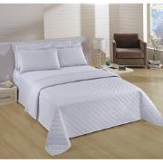 Imagem de Kit Cobre-Leito Casal + Porta Travesseiro 150 Fios Liso Branco 0001 - Artex