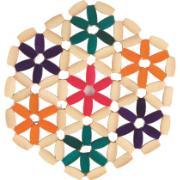 Imagem de Descanso de Panela Redondo de Bambu 17 cm Bege - Mundiart