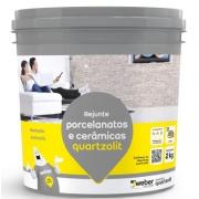 Imagem de Rejunte Porcelanato/Cerâmica Cinza Platina Balde/2kg - Quartzolit