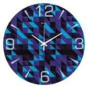 Imagem de  Relógio de Parede com Vidro Fashion Abstract 33,5 cm Azul 1012 - Relobraz