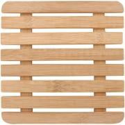 Imagem de Descanso de Panela Quadrado de Bambu 17cm Marrom Claro - Yangzi