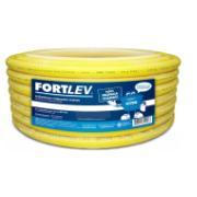 "Eletroduto Flexível Corrugado PVC DN 25 mm 3/4"" x 50m Amarelo - Fortlev"