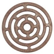 Imagem de Descanso de Panela Redondo de Plástico 18 cm Imbuia - Evo