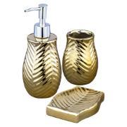 Imagem de Jogo para Banheiro de Cerâmica 3 Peças Ouro - Fcm Bianchini Lavabo - UDB18035B