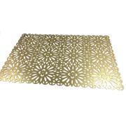 Pano Americano Retangular 45 x 30 cm PVC Ouro - Bianchini