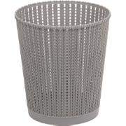 Lixeira para Escritório de Plástico 6,0L Cinza TG51185 - Bianchini