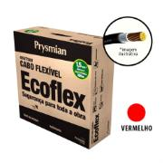 Imagem de Cabo Flexível Antichamas Ecoflex 1,50 mm² 100 m 750V 1 Condutor Vermelho - Prysmian