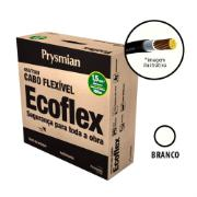 Cabo Flexível Antichamas Ecoflex 1,50 mm² 100 m 750V 1 Condutor Branco - Prysmian