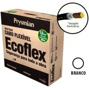 Imagem de Cabo Flexível Antichamas Ecoflex 1,50 mm² 100 m 750V 1 Condutor Branco - Prysmian
