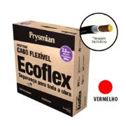 Cabo Flexível Antichamas Ecoflex 2,50 mm² 100 m 750V 1 Condutor Vermelho - Prysmian
