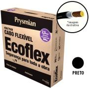 Cabo Flexível Antichamas Ecoflex 2,50 mm² 100 m 750V 1 Condutor Preto - Prysmian