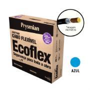 Cabo Flexível Antichamas Ecoflex 2,50 mm² 100 m 750V 1 Condutor Azul - Prysmian