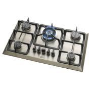 Imagem de Cooktop 5 Bocas Fischer 23678-54121 à Gás Natural ou GLP - Bivolt - com Acendimento Superautomático