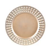 Sousplat Redondo de Plástico 33cm Dourado 41285-152 - G.Presentes