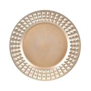 Imagem de Sousplat Redondo de Plástico 33cm Dourado 41285-152 - G.Presentes
