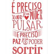 Placa Decorativa em MDF 30x20 cm Amor e Paz 68419 - Kapos