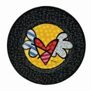Sousplat Redondo de Melamina 33cm Amarelo - Romero Britto 18450 - Yangzi