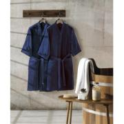 Roupão de Banho Adulto Unicolor Liso M com Cinto Azul Escuro - Dohler