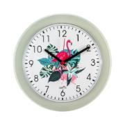 Imagem de Relógio de Parede Kairos 24 cm Flamingo Cinza 3641 - Relobraz