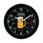 Imagem de  Relógio de Parede Kairos 24 cm Cerveja Preto 3643 - Relobraz