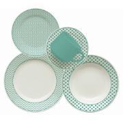 Aparelho de Jantar de Cerâmica 20 Peças Turquesa - Oxford