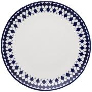 Imagem de Prato Raso Redondo em Porcelana Coup Azul Escuro 28cm - Oxford