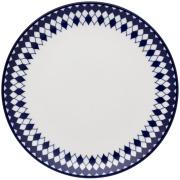 Imagem de Prato de Sobremesa Redondo em Porcelana Coup Azul Escuro 21cm - Oxford