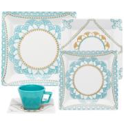 Aparelho de Jantar de Porcelana 20 Peças Azul claro - Oxford