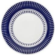Prato de Sobremesa Redondo em Cerâmica Colb Azul escuro 19cm - Oxford